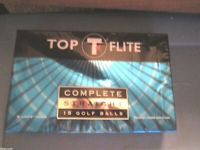 Balls In Sports (TOP FLIGHT COMPLETE STRAIGHT 15 GOLF BALLS NEW IN SEALED PACKAGE SPORTS)