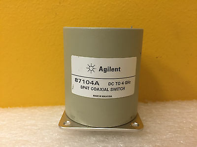 Agilent Hp 87104a Dc To 4 Ghz 1.2 Swr 100 Db Sma F Spht Coaxial Switch