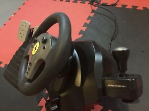 Vintage Thrustmaser PC force feedback Wheel and Pedals