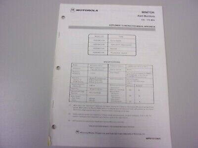 Vintage Motorola Minitor Pager Radio Service Maintenance Manual VHF 132-174MHz