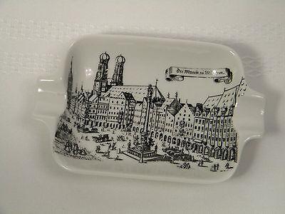 Vtg Royal Porzellan Bavaria KM Germany Cigar Ashtray 1900's Der Markt zu Munchen