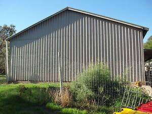 SHED LARGE INDUSTRIAL SHED GABLE ROOF 24.7 X 9.4 mtr COLORBOND Hackham Morphett Vale Area Preview