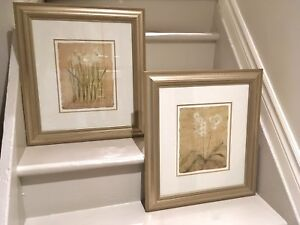 ⭐2 stunning matted/framed prints purchased at an art gallery