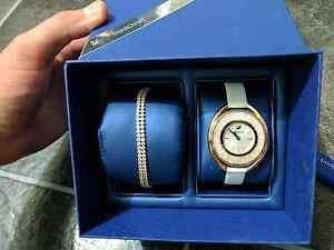 Swarovski Crystalline Oval Watch & Bracelet in Rose Gold Hoppers Crossing Wyndham Area Preview