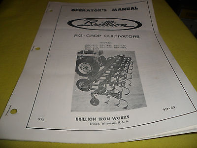 Drawer 14 Brillion Ro-crop Cultivators Operators Manual Brc 430 440 630 More