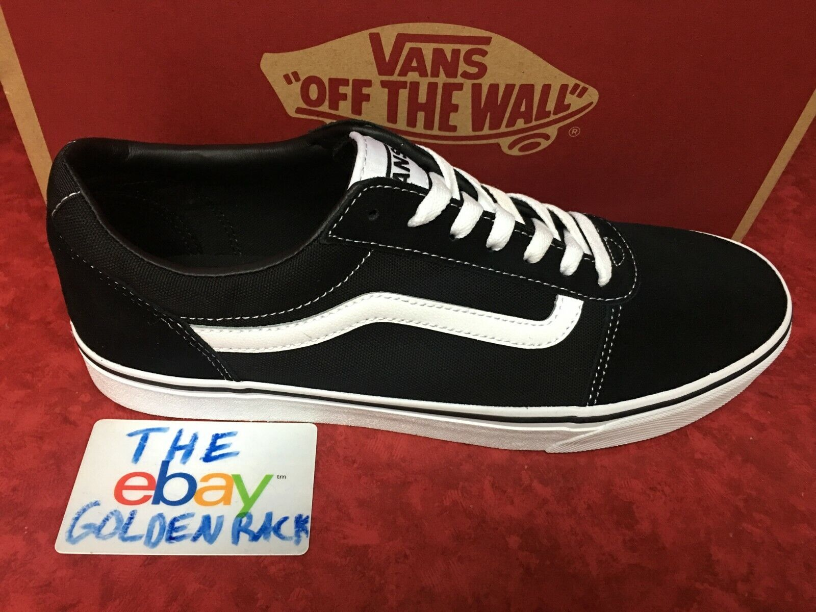New Men Vans Old Skool Ward Black Skateboarding Shoes Classi