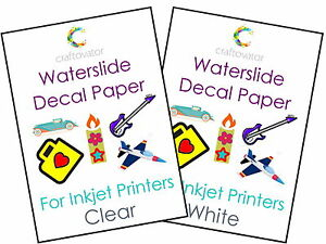 Water-Slide-Decal-Paper-Waterslide-INKJET-A4-Transfer-Sheets-ALL-PACK-SIZES