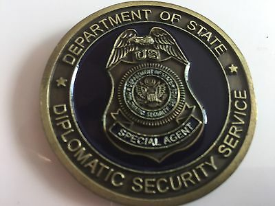 Us Department Of State Diplomatic Security Service Challenge Coin