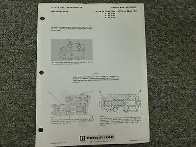 Caterpillar 955h 977h Loader Powershift Transmission Shop Service Repair Manual