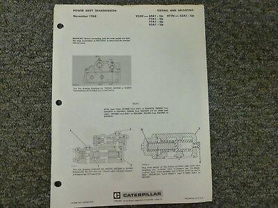Caterpillar 955h 977h Loader Powershift Transmission Shop Service Repair Manual