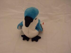 1997 Ty Original Beanie Babies ROCKET The Blue Jay w/Tags (9 inch)