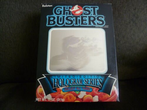 Ghostbuster Cereal Empty Box 1985 Hologram Series Slimer Ralston Purina