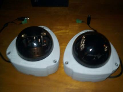 2 x NESS MESSOA VANDALPROOF  DOME SECURITY CAMERAS