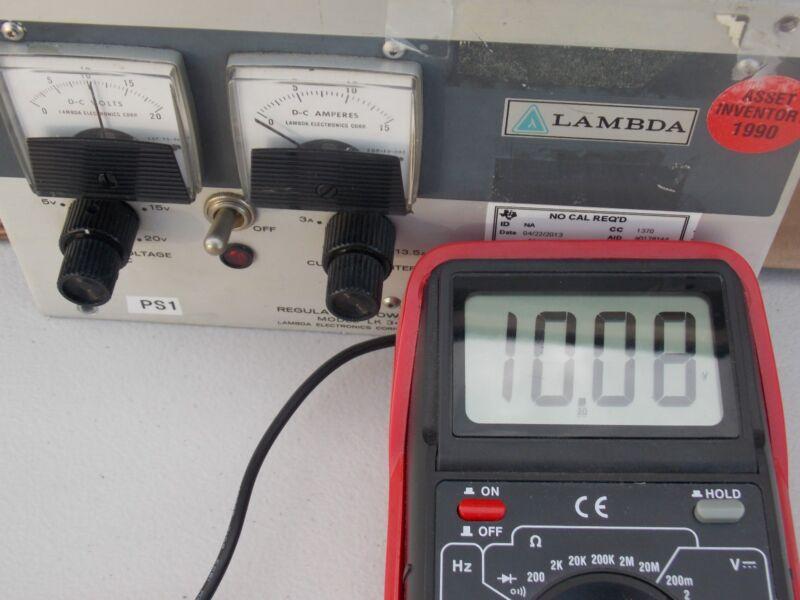 Lambda Electronics Regulated Power Supply LK-341A FM