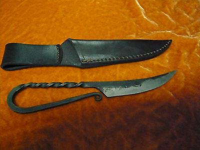 Messer klein handgeschmiedet +Scheide mit Gürtelschlaufe Mittelalter Larp