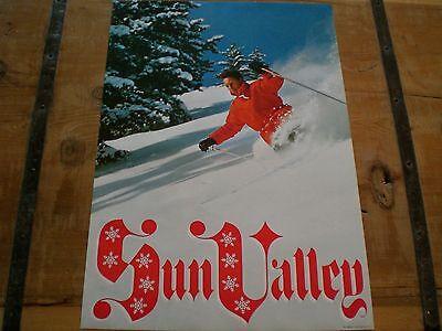 Vintage 1960's *SUN VALLEY* SKI Poster POWDER - MINT CONDITION!