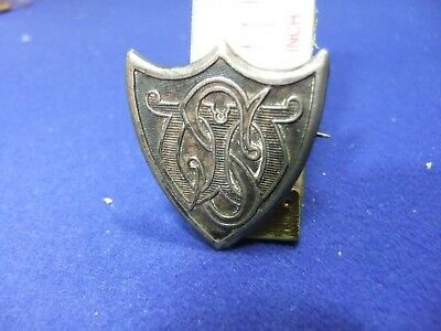 vtg badge ws stw shield 1900s womens union school sufferage assoc member silver