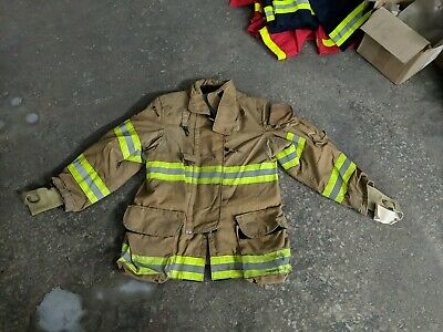 40x32 R Janesville Firefighter Jacket Coat Bunker Turn Out Gear Lion