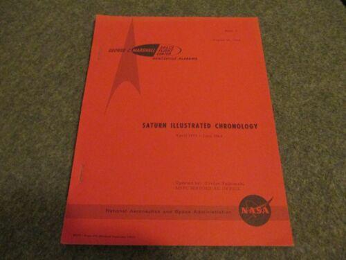 1957-64 NASA MSFC ISSUED SATURN ILLUSTRATED CHRONOLOGY ROCKET DEVELOPMENT-(MHR-3