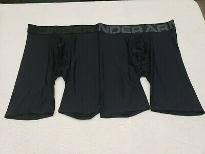 "Under Armour Underwear Men's 9"" Tech Boxerjock Briefs. ( 2 PACK ).Size- SMALL."