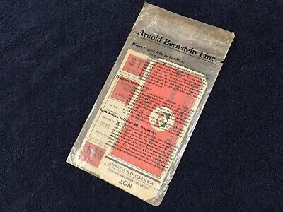 Rare Vintage 1936 ARNOLD BERNSTEIN STEAMSHIP CRUISE LINE Baggage Room Decal/Tag