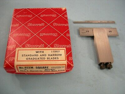 Starrett No.453m Metric Die Makers Square Set Complete Tool Maker Machinist