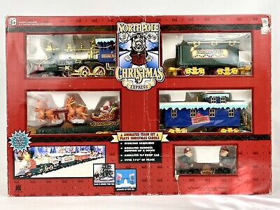 1996 Toy State North Pole Christmas Magic Express Animated Musical Train Set