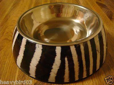 #107  HIDDEN DIVERSION SECRET SAFE DOG, CAT BOWL METAL PAN & COVER / ZEBRA CAN!
