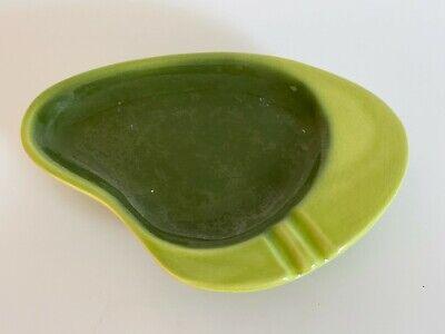 VTG Kidney Boomerang 2 tone Avocado Green Ashtray MCM Retro Atomic