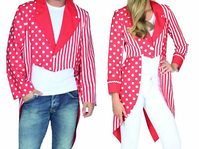 Kostüm rot/weißer Frack Köln Jacke Kölnfrack Damen Herren - Roter Frack Kostüm