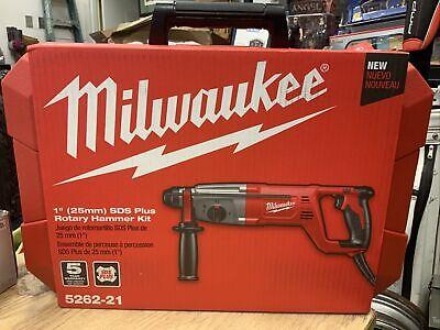 New Milwaukee 5262-21 1 Inch Sds Plus Rotary Hammer Kit 1 25mm Set W Case