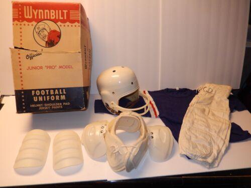 Vintage Wynnbilt Youth Football Uniform Shoulder Pads Jersey Helmet Pants