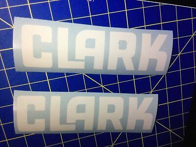 2- Clark Forklift Decal Black 1- White 1- Set White Vertical Mast Set Decals