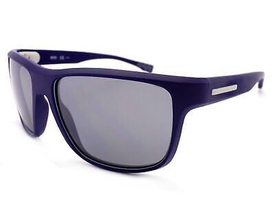 HUGO BOSS Gafas de Sol Polarizadas Mate Azul Marino/Plata Espejo 0799/S Cym...