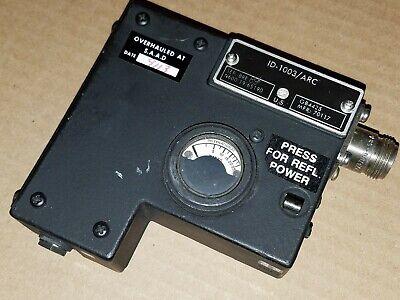 Rockwell-collins Radio Id-1003arc Rf Microwave Swr Indicator Power Watt Meter
