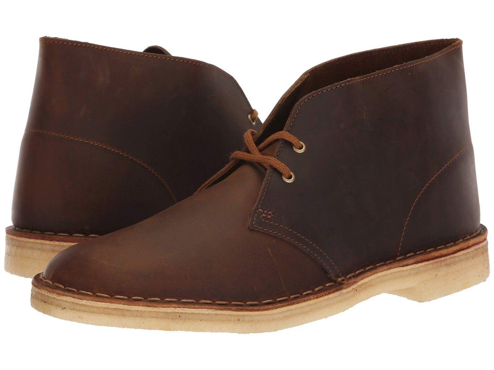 Men's Shoes Clarks Originals DESERT BOOT Leather Chukkas 26138221 BEESWAX