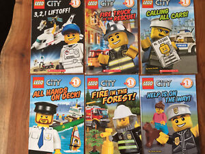 Kids LEGO City Level 1 Readers Books