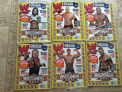 WWE Lot of 11 Magazines WRESTLEMANIA XXVI HHH MICHAELS EDGE CENA PUNK