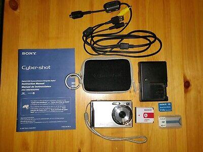 Sony Cyber-shot DSC-W90 8.1 MP 3x Carl Zeiss Optical 1GB Memory Card & Case