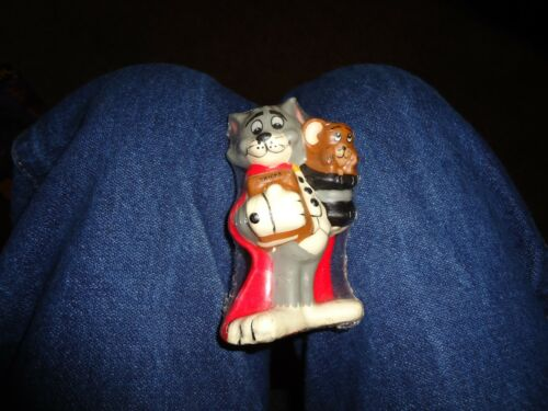Tom & Jerry Cat and Mouse CANDLE Toy Figures Vtg  New NOS Sealed MGM