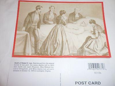 Death of Confederate General Robert E. Lee Civil War Postcard