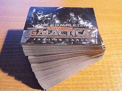 THE COMPLETE BATTLESTAR GALACTICA BASIC SET OF 72 CARDS