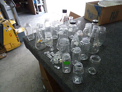 Big Lot Of 30 Pyrex Kimax Lab Glass Bleakers Jars