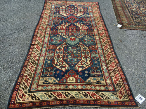 Antique Gorgeous Outstanding Collectible  Caucasian Kazak 5x10ft Cr 1880