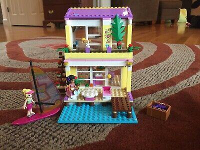 Lego Friends 41037 Stephane's Beach House - 100% Complete + 41028 Bonus!