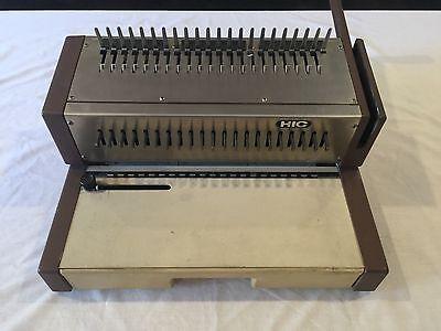 Hic Hpb-210 Manual Gbc Plastic Comb Binding Punching Machine 1988