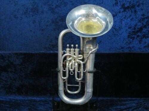 Besson Silver 3 Valve Baritone Horn Ser#567462 Beautiful Besson Sound!