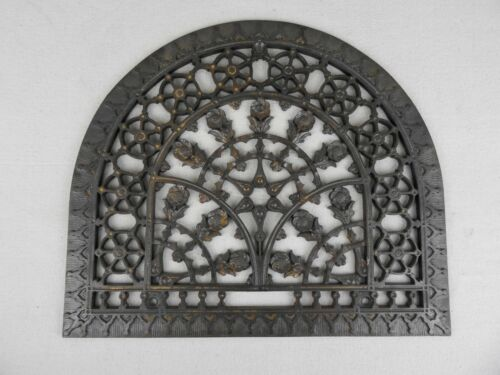 Antique Cast Iron Arch Dome Grate Register Vent Architectural Salvage Garden