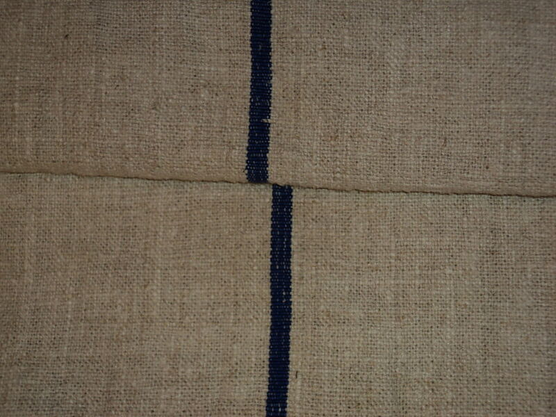 Antique European Grain Sack Blue Stripes #1792