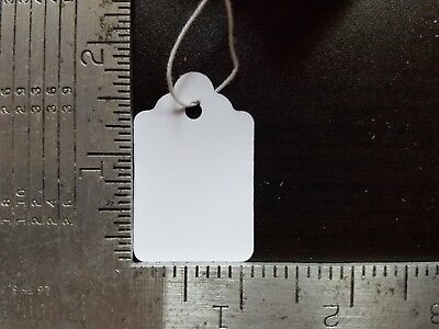 1000 Blank White Merchandise Price Tags With Strings Size 5 Retail Strung Label